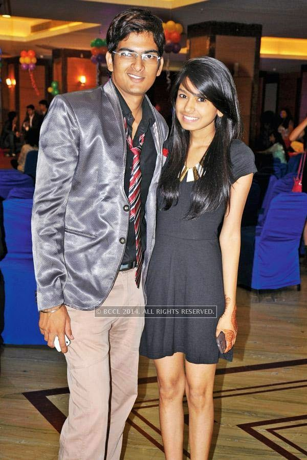 Aditya and Aishwarya during a cartoon-themed party organised by Modern Dental College and Research Centre, in Indore.