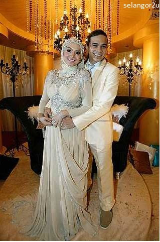 Gambar perkahwinan Bienda (anak Sheeda) dan Boy (Kamarul Zariman) Media Prima