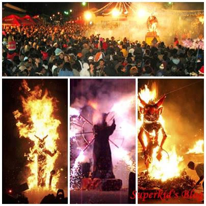 熱鬧的瓜地馬拉燒魔鬼儀式。