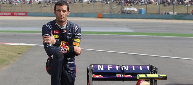 Mark Webber tras abandonar en la clasificación del GP de China 2013