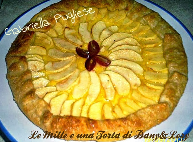 golosità da preparare se vi avanza della crema pasticcera - sfoglia concrema e mele