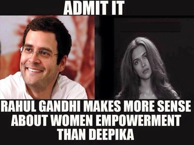 Rahul Gandhi vs Deepika padukone women empowerment !!