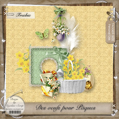 "Free scrapbook ""Eggs for Easter"" from Cajoline scrap"