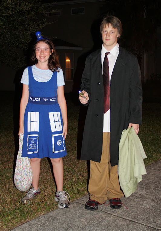 TARDIS and Doctor Who costume