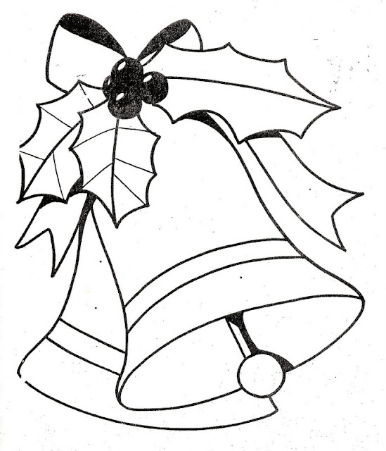 Holiday bells coloring pages