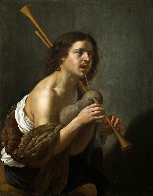 Jan van Bijlert - A Shepherd Playing the Bagpipes