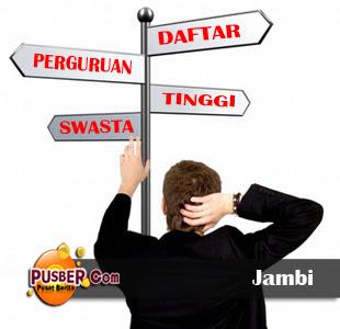 Daftar Perguruan Tinggi Swasta di Jambi