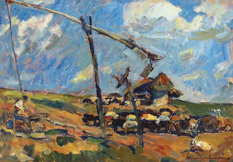 Rudolf Schweitzer-Cumpăna - Oițe la adăpat