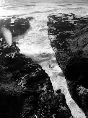 cook's chasm and spouting horn