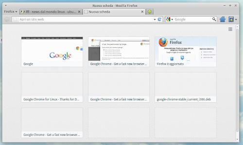 Firefox 13 nuova tab