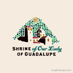 Shrine of Our Lady of Guadalupe logo design La Crosse, WI.