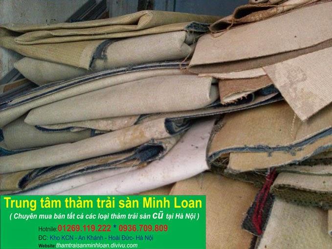 Thu mua thảm trải sàn cũ giá cao tại Hà nội