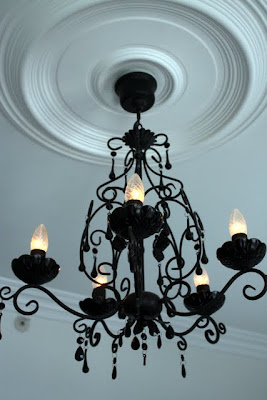 Chandelier at the Myhregaarden Hotel in Stavanger Norway