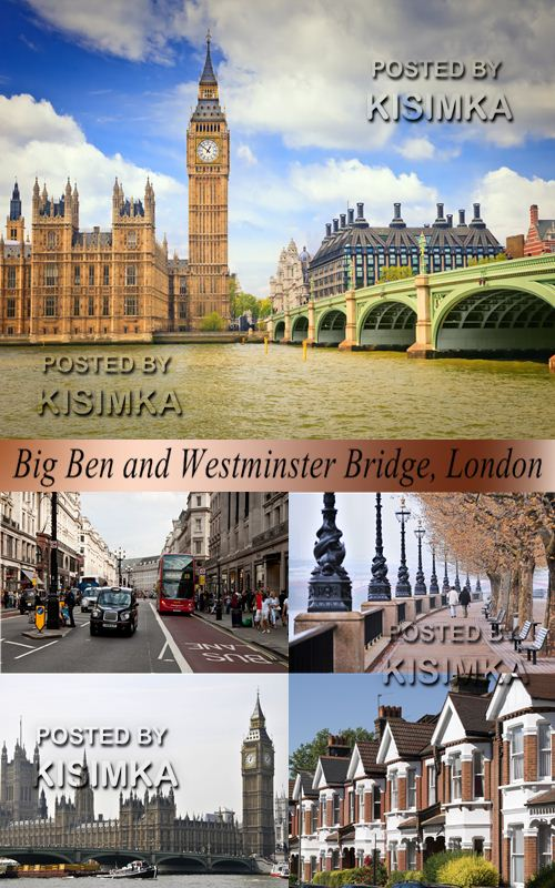 Stock Photo: Big Ben and Westminster Bridge, London