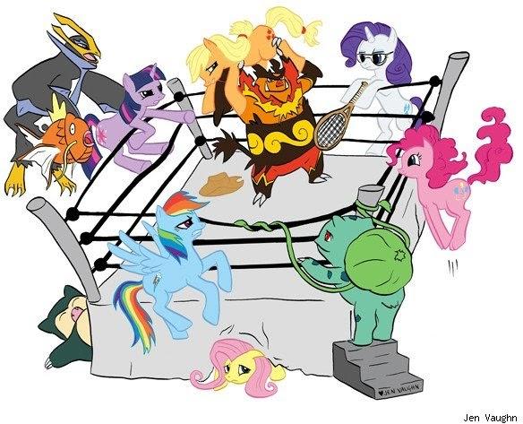 Equestria Daily Mlp Stuff Ponies Vs Pokemon Vs Wrestling