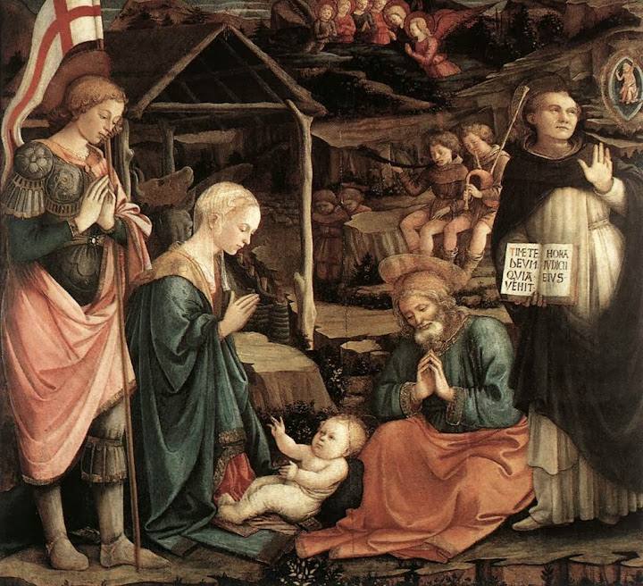 Filippino Lippi - Adoration of the Child with Saints