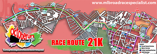 21K route map