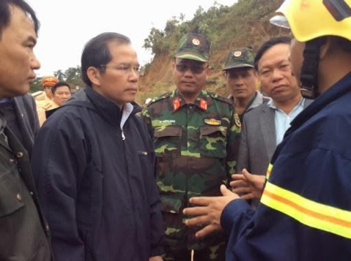 Bí thư Tỉnh ủyLâm Đồng đã có mặt ở hiện trường chỉ đạo các lực lượng khẩn trương cứu người.