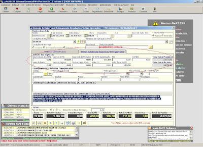 NeXT ERP NFe 2.0 segunda geração emissão NFe impostos