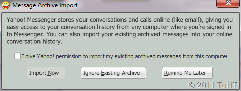 Message Archive Import