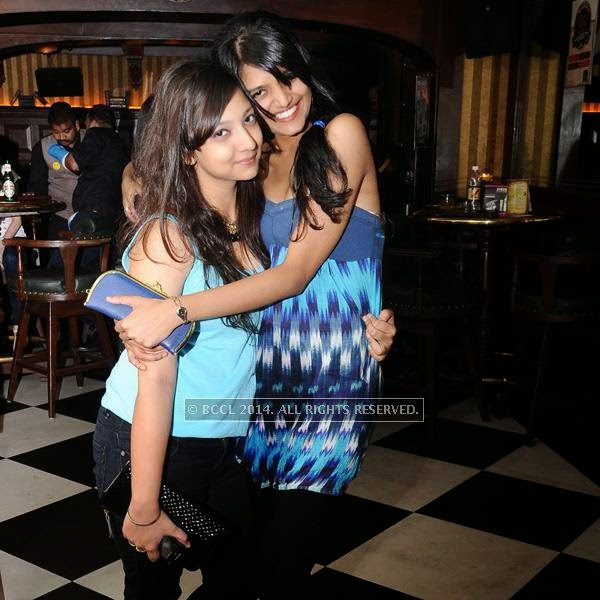 Shashwati and Paulomi pose together during a Ladies Night party, held at 10 Downing Street.