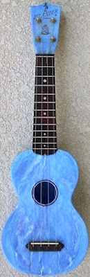 Mastro Maccaferri blue Islander Semi Deluxe Plastic Soprano at Lardy's Ukulele Database