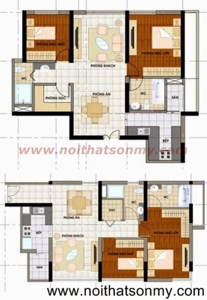 Mặt bằng thiết kế nội thất căn hộ 382