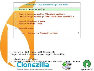 """Cómo crear un """"punto de restauración"""" con Clonezilla"""