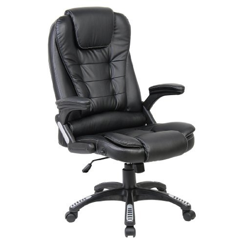 rio black luxury reclining executive high back office desk chair