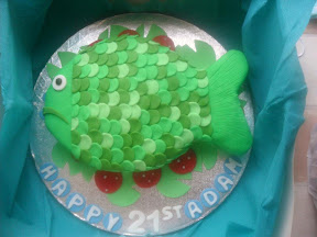 21st Birthday Cake - Fish