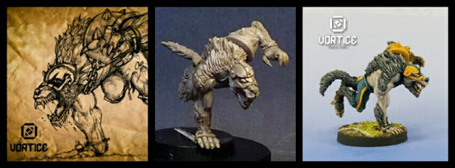 Werewolf 1 Blood Bowl Vórtice miniatures