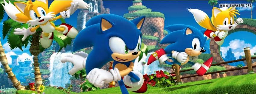 Capas para Facebook Sonic