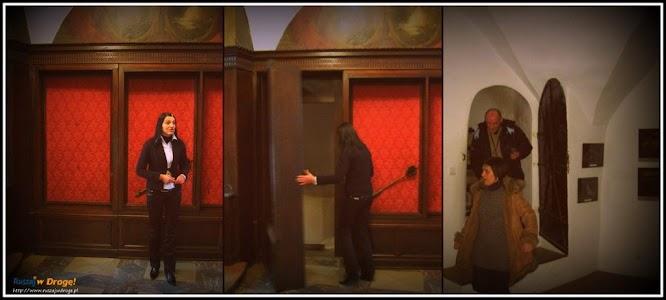 zamek czocha - ukryte przejście do podziemi