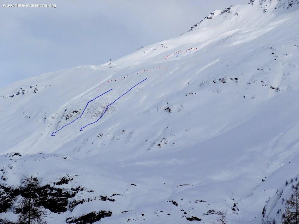 Avalanche Haute Maurienne, secteur Pointe d'Andagne, Les Coverdettes - Photo 1