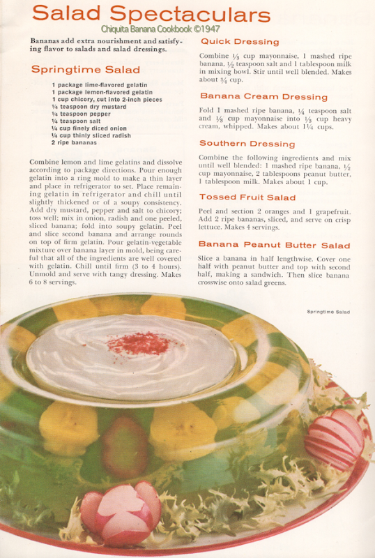 Banana Salad Recipes ©1947