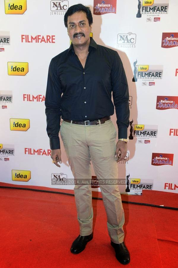 Sunil Varma arrives for the 61st Idea Filmfare Awards South, held at Jawaharlal Nehru Stadium in Chennai, on July 12, 2014.