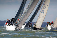 J's sailing on Solent, off Cowes, England