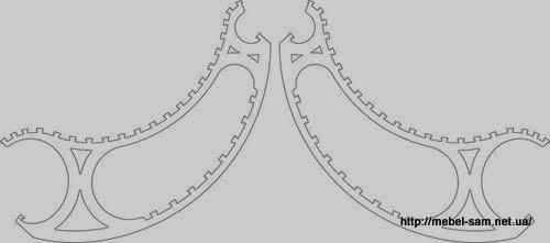 Чертежи боковых деталей фанерного кресла