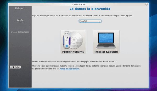 Cómo instalar Kubuntu 14.04 desde el DVD