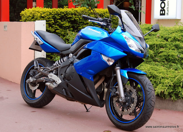 occasion kawasaki er6f abs bleu 2009 31600kms vendue saint maur motos. Black Bedroom Furniture Sets. Home Design Ideas
