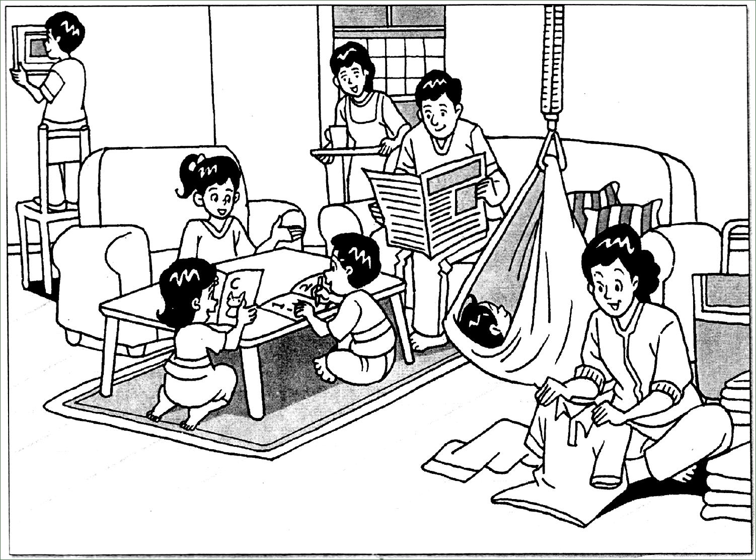 Gambar Di Bawah Menunjukkan Situasi Ruang Tamu Tulis Lima Ayat Yang Lengkap Tentang Aktiviti Terdapat Dalam