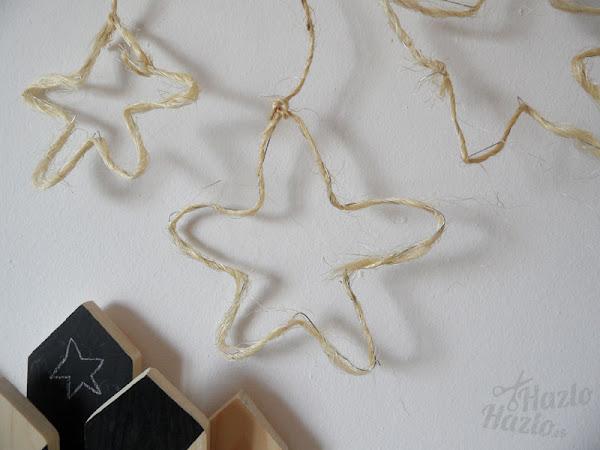 Estrellas colgantes hechas a mano