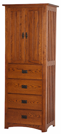 80 x 30 Mission Armoire in Autumn Oak