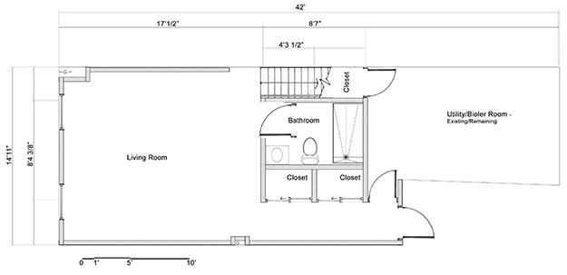 Petworth row house the plan basement renovation for Architectural plans and permits