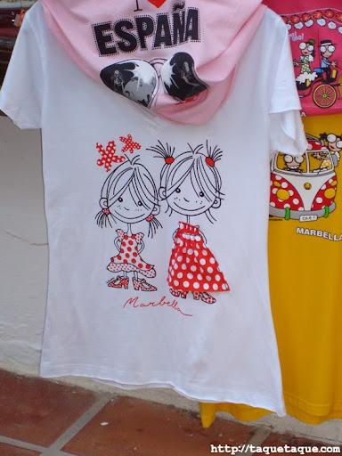 camisetas de recuerdo de Marbella