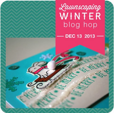Lawnscaping winter blog hop challenge Lawn Fawn