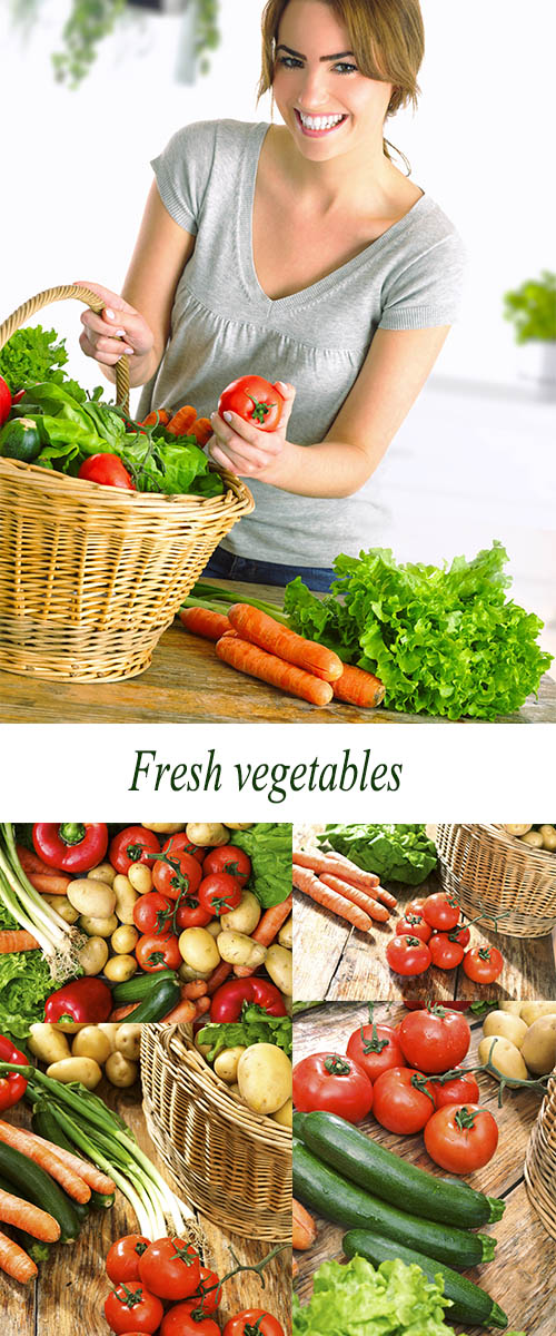Stock Photo: Fresh vegetables, environmentally friendly product