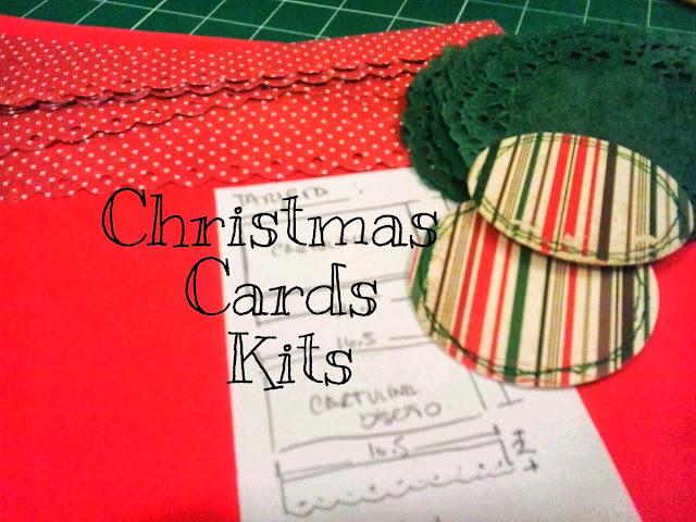 tarjetas de navidad feria kits de tarjetas