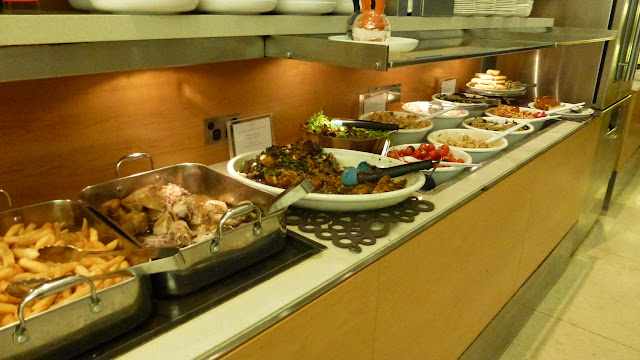 Buffet at Qantas Business Lounge, Sydney Airport