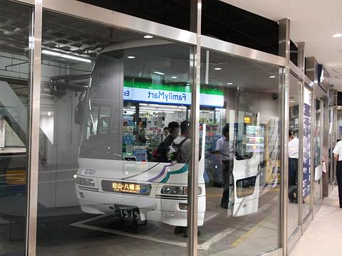 名鉄バス「名古屋~松山線」 名鉄BC改札中